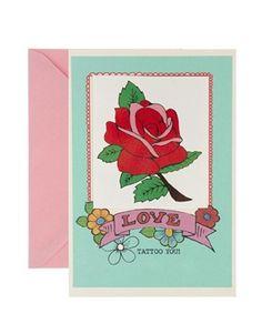 Rosie Wonders Tattoo Rose Love Card