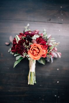 We love deep purples and reds for a vineyard wedding