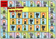 PRIMER SIGHT WORD - FAIRY TALE BOARD GAME PACKET