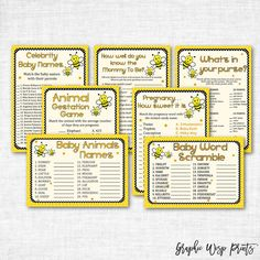 Woodland Baby Shower Whats In Your Purse Game Printable WOD04