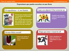 Expresiones para una fiesta Spanish Lessons, Teaching Spanish, Idiomatic Expressions, Interactive Activities, How To Speak Spanish, Spanish Language, Infographic, How To Plan, Learning