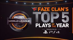 FaZe Clan are a strong contender to take first place at the Call of Duty World League Championship, Presented by PlayStation 4. Watch their CWL PS4 Top 5 Plays of the year.