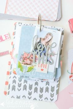 you are in for a fabulous treat today!!! My media team member Jamie Pate is sharing a beautiful mini album she created with my Becky Higgins Project Life September Skies Core and Value Kits now availa