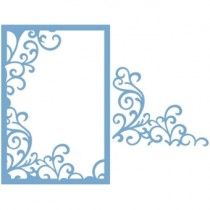 Couture Creations Intricutz Dies Elegant Card Cuts Collection Coteaux Curls