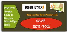 Big Lots Coupon Matchups May 3 - May 11: Bottled Water 24 pk $2.45, All Laundry $2.50 and more : #BigLots, #Stores Check it out here!!