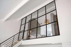 Mezzanine Beaumont: An Addition of Mezzanine Office Space to the Industrial Loft… Loft Mezzanine, Mezzanine Design, Mezzanine Bedroom, Modern Industrial Decor, Industrial Living, Scandinavian Style Home, Loft Furniture, Cottage Plan, House Siding