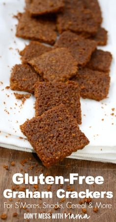 Gluten-Free Graham Cracker Recipe #glutenfree - DontMesswithMama.com