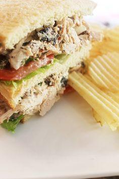 Creole Fried Turkey Salad Sandwich FoodBlogs.com