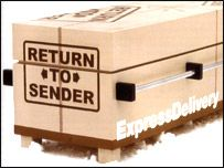 Return to Sender coffin...wonder who'll sign?? O_o