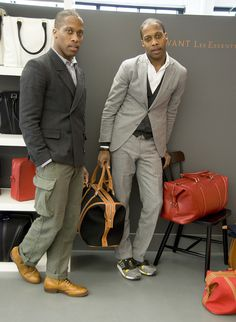 38f839d0b56 Dexter and Byron Peart Canadian twins Dexter and Byron have had a lifelong  appreciation for fashion