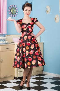 cedd35c00acf The Cupcake Print Victory Swing Dress. Available in Sizes 8-20/22. Made in  London. £50