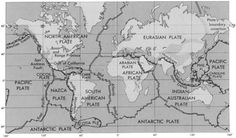 Lithospheric plates map suggestive of Lemuria or Continent of Mu in Pacific Ocean