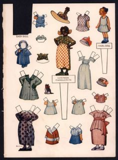 """Lucinda Marguerite """"Mary Francis Housekeeper"""" Paper Doll (888) (06/25/2013)"""