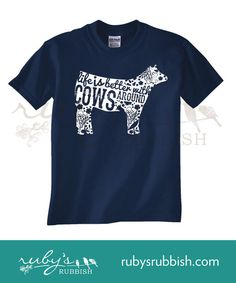 Hey, I found this really awesome Etsy listing at https://www.etsy.com/listing/202114596/life-is-better-with-cows-youth-tee
