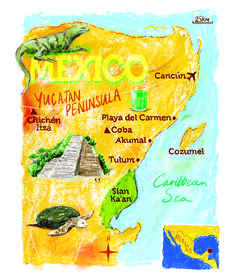 Mexico map by Scott Jessop. December 2013 issue