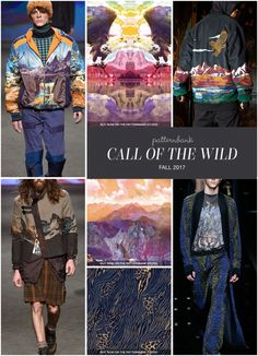 Menswear Autumn/Winter 2017 – Key Print and Pattern Highlights Part 1 | Patternbank - Call Of The Wild