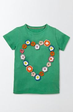 Free shipping and returns on Mini Boden Floral Crochet Tee (Toddler Girls, Little Girls & Big Girls) at Nordstrom.com. She can frolic through fields of blooming flowers in this classic cotton tee enlivened with crocheted details.