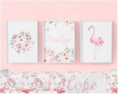 Pink Flamingo Nursery Print Floral Printable Nursery Art Nursery Wall Decor Girls Room Decor Tropical Floral Nursery Name Art Flamingo Nursery, Flamingo Art, Floral Nursery, Pink Flamingos, Nursery Name Art, Baby Girl Nursery Themes, Animal Nursery, Nursery Ideas, Bedroom Ideas