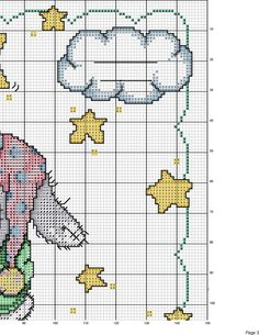Rabbit on the Moon - top right Cross Stitch Baby, Cross Stitch Samplers, Cross Stitch Charts, Cross Stitching, Cross Stitch Embroidery, Baby Chart, Disney Cross Stitch Patterns, Needlework, Knitting Patterns