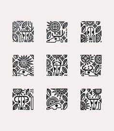Illustration series in homage to Georgia O'Keeffe Geometric Pattern Design, Pattern Art, Graphic Design Illustration, Illustration Art, Illustrations, Logo Sketches, Graffiti Doodles, Pen Art, Zentangle Patterns