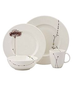 "Lenox Simply Fine™ ""Flourish"" Dinnerware Collection - Fine China - Dining & Entertaining - Macy's Bridal and Wedding Registry"