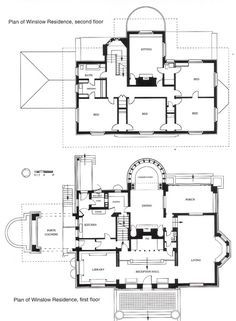 First floor plan of Martin House, F L Wright, Buffalo