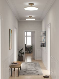 Plafon Asteria Up pearl UMAGE - perłowa biel - Pufa Design Hallway Lighting, Living Room Lighting, Flush Ceiling Lights, Ceiling Lamp, Danish Design, Modern Design, Design Plat, Farm Plans, Design Bestseller