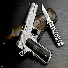 Springfield 1911 & Benchmade knife - http://www.rgrips.com/tanfoglio-limited/525-tanfoglio-limited-custom.html Find our speedloader now! http://www.amazon.com/shops/raeind