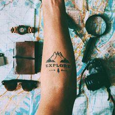 Muir Tattoo – Semi-Permanent Tattoos by inkbox™ - Tattoo Designs Men Diy Tattoo, Inkbox Tattoo, Tattoo Ideas, Tattoo Tree, Tattoo Lyrics, Forearm Tattoos, Body Art Tattoos, Sleeve Tattoos, Ink Tattoos