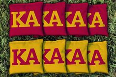 Kappa Alpha Greek Life Cornhole Bags Set of 8 by SkipsGarage