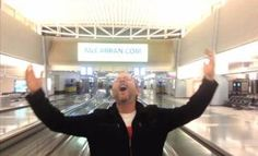 Man stuck in airport over night makes music video to Celine Dion! Hilarious!!!! :-D