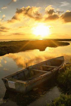 #delta #ebre #sunrise Delta Del Ebro, Floating Boat, Sea Photo, Rafting, Land Scape, Kayaking, The Row, Cruise, Sunrise