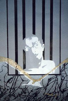 Atrapado. 1990. 40x58 cm. Tinta y témpera sobre papel canson