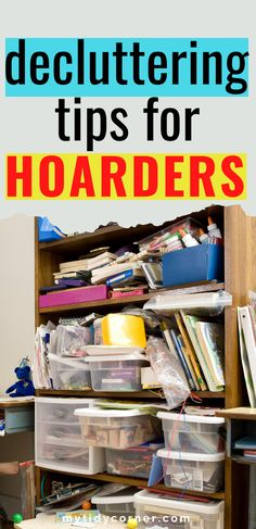 Discover simple decluttering tips for hoarders and packrats to organize their home. These practical ideas will help you Declutter Home, Declutter Your Life, Organizing Your Home, Clutter Organization, Home Organization Hacks, Organization Ideas, Organising Tips, Household Organization, Bedroom Organization