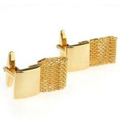 Gold Alloy Rectangle Cufflinks