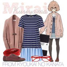 """""""[Kyoukai no Kanata] Kuriyama Mirai - Winter Uniform"""" by animangacouture on Polyvore  www.otakucouture.com"""