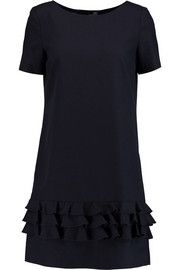 Love MoschinoTiered cotton and wool-blend mini dress