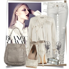 ALL Saints: Chalk White, created by honii on Polyvore