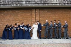 Navy blue and white cascading brides bouquet with matching bridesmaids Bridesmaids, Bridesmaid Dresses, Wedding Dresses, Budget Bride, Cheap Wedding Flowers, Navy Blue, Blue And White, Bride Bouquets, Beautiful Bride