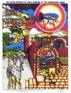 LED ZEPPELIN, Rare Concert Posters of the 60's and 70's - PosterGeist!