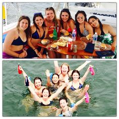 These 6 New York ladies got together in Vero Beach to celebrate their college graduation which included a sail aboard Moonraker. Indian River Lagoon, Vero Beach Florida, Sailing Catamaran, Welcome Aboard, Graduation Celebration, College Graduation, Swimming, Celebrities, Swim