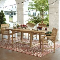 With its durable construction and variegated wood grain, the Summerton Table captures the organic beauty of teak. Weatherproof and maintenance-free, it ca...