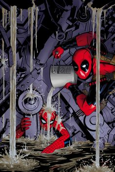 Spider-Man and Deadpool by Michael Golden