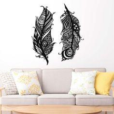 Vyrezávané pierka na stenu z dreva │DUBLEZ Home Decor, Homemade Home Decor, Decoration Home, Interior Decorating