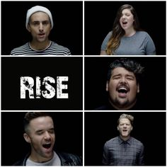 "This was the best cover I have ever heard❤️ ""Rise"" cover by: Mitch Grassi, Scott Hoying, Mario Jose, Mary Lambet, & Brian Justin Scrum"