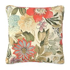 """Improvements 15'' Throw Pillow 15""""x15""""x6"""" - Terrace Floral Print ($7.97) ❤ liked on Polyvore featuring home, outdoors, outdoor decor, pillows, outdoor, 15 throw pillow, 8686360, outdoor garden decor, outdoor accent pillows and outdoor patio decor"""