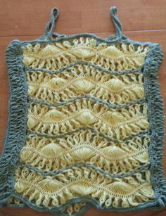 Hairpin lace top - Crochet creation by chasity