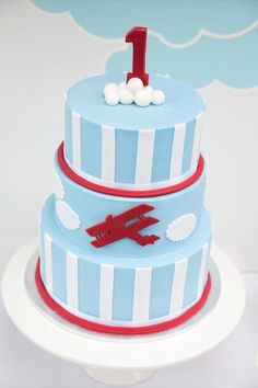 Vintage airplane party from Style My Table #cake #airplaneparty #party #parties