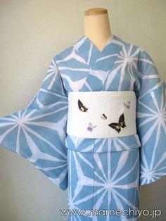 麻の葉ブルー浴衣