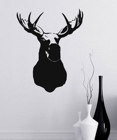 moose head silhouette - Google Search